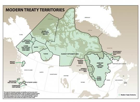 Modern Treaty Territories