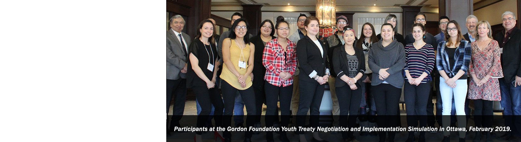 Participants at the Gordon Foundation Youth Treaty Negotiation and Implementation Simulation in Ottawa, February 2019.
